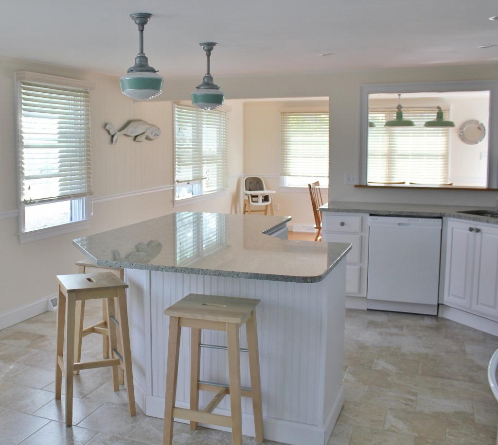 Kitchenlighting: Jadite Pendants Bring Fresh Look To Post-Sandy Renovations