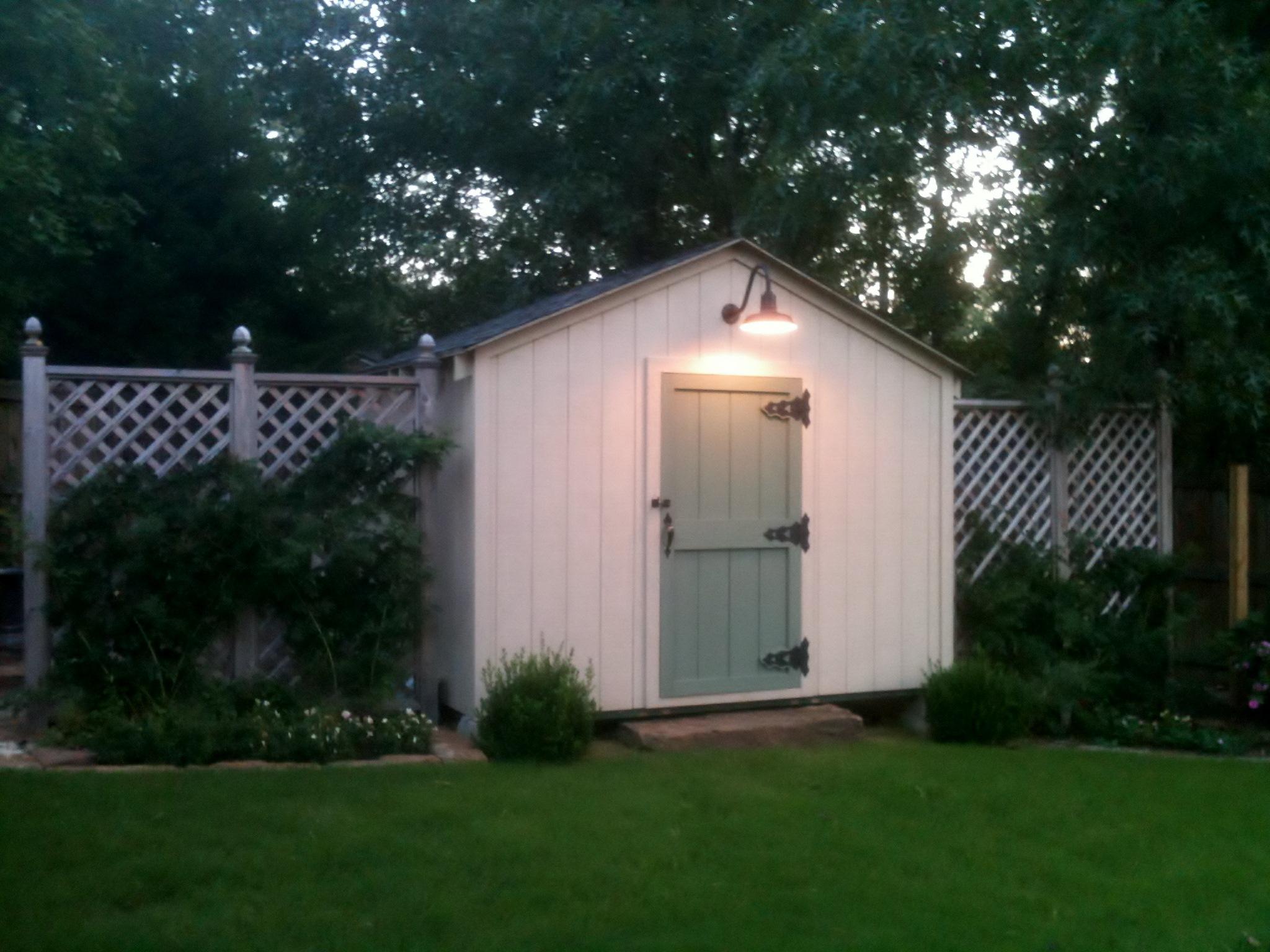 Gooseneck Barn Light Adds Delightful Farm Touch To Garden Shed Blog BarnL
