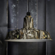 Camouflage Barn Lights Bring Rugged Style to Cabins, Lodges