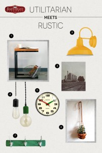 Style Me Sunday: Rustic, Utilitarian Style for Fall Interior Design