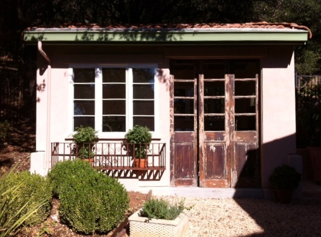 Her New Shed Is Not Only Functional But Ties In Beautifully With Her  Mediterranean Style Home.