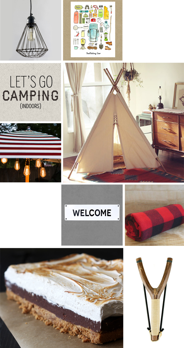 Style Me Sunday: Lets Go Camping! (Indoors)