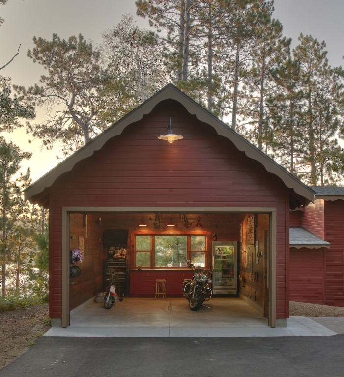 Classic Gooseneck Barn Lights Give New Space 'Old Garage