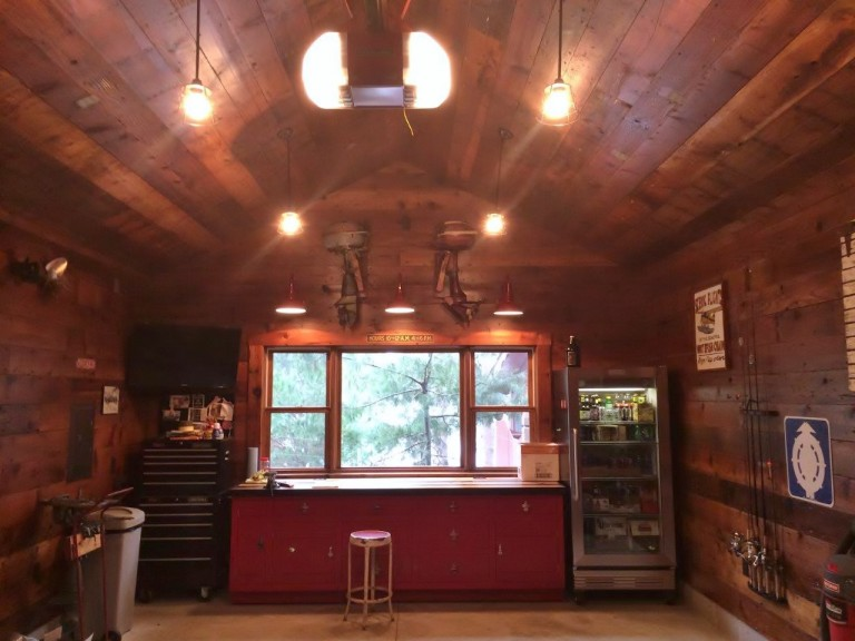 Classic Gooseneck Barn Lights Give New Space Old Garage