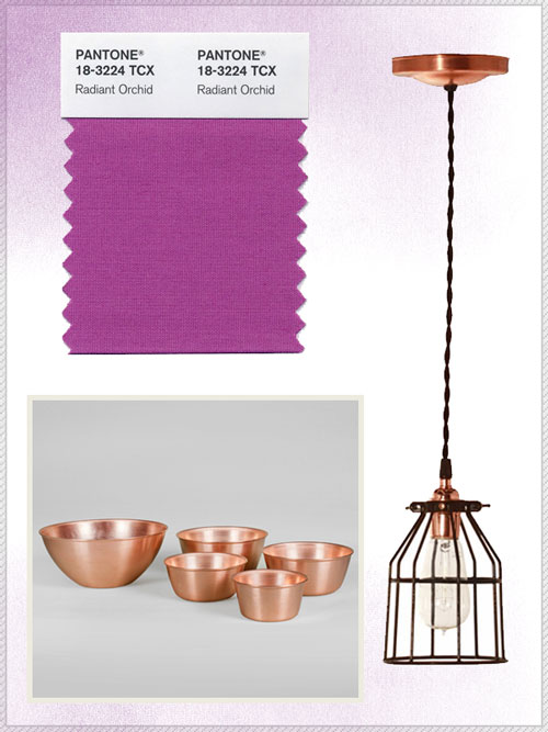 Radiant Orchid and Copper