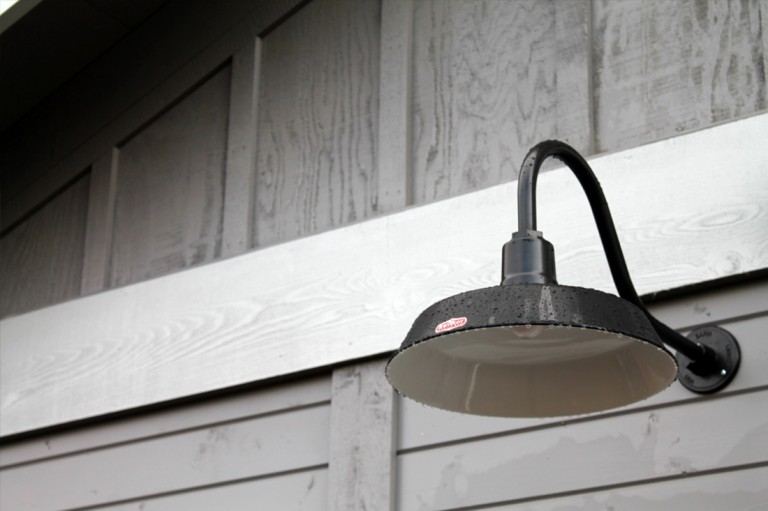 Classic Gooseneck Lighting For Oregon Barn And Workshop
