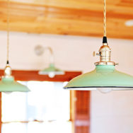 Blogger's DIY Renovations Take Shape with Porcelain Enamel Kitchen Lighting