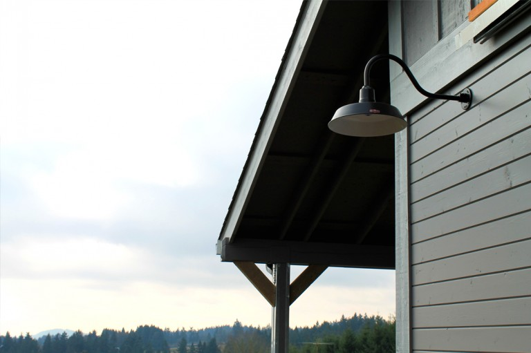 Classic Gooseneck Lighting For Oregon Barn And Workshop
