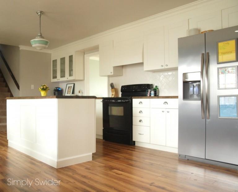 Schoolhouse lights bring vintage industrial style to kitchen blog - Schoolhouse lights kitchen ...