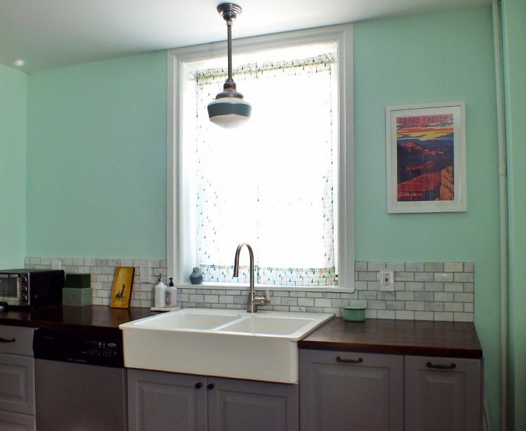 Http Blog Barnlightelectric Com Featured Customer Schoolhouse Pendant Serves As Anchor In Kitchen Remodel