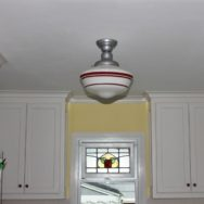 Featured Customer | Schoolhouse Pendants Crowning Touch in Tudor Kitchen Remodel
