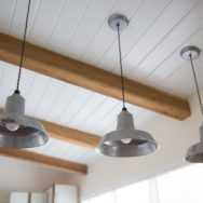 Featured Customer | Industrial Pendants Ideal for Small, Rustic Kitchen