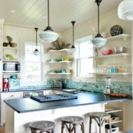 Featured Customer | Schoolhouse Pendants Grace Kitchen of Idyllic Hawaiian Retreat