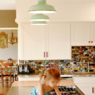 Featured Customer | Porcelain Pendants Add Balance to Bold, Fun & Busy Kitchen