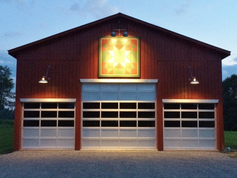 Gooseneck Barn Lighting Brings Focus To Kentucky Quilt