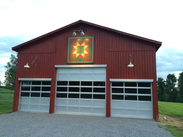 Gooseneck Barn Lighting Brings Focus to Kentucky Barn Quilt | Blog ...