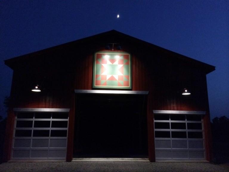 Gooseneck Barn Lighting Brings Focus To Kentucky Barn
