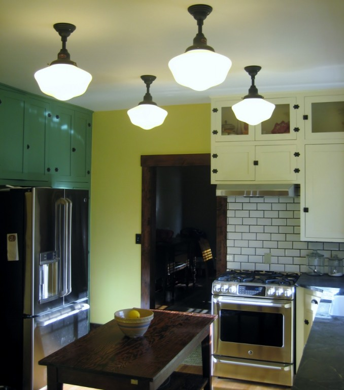 Www American Electric Lighting: Schoolhouse Lights Icing On The Cake In Kitchen Remodel