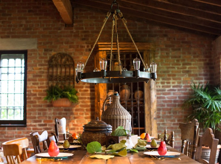 Rustic Kitchen Chandelier Lighting