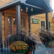 Rustic Vermont Inn Gets Makeover with Chandelier, Post Mount Lights