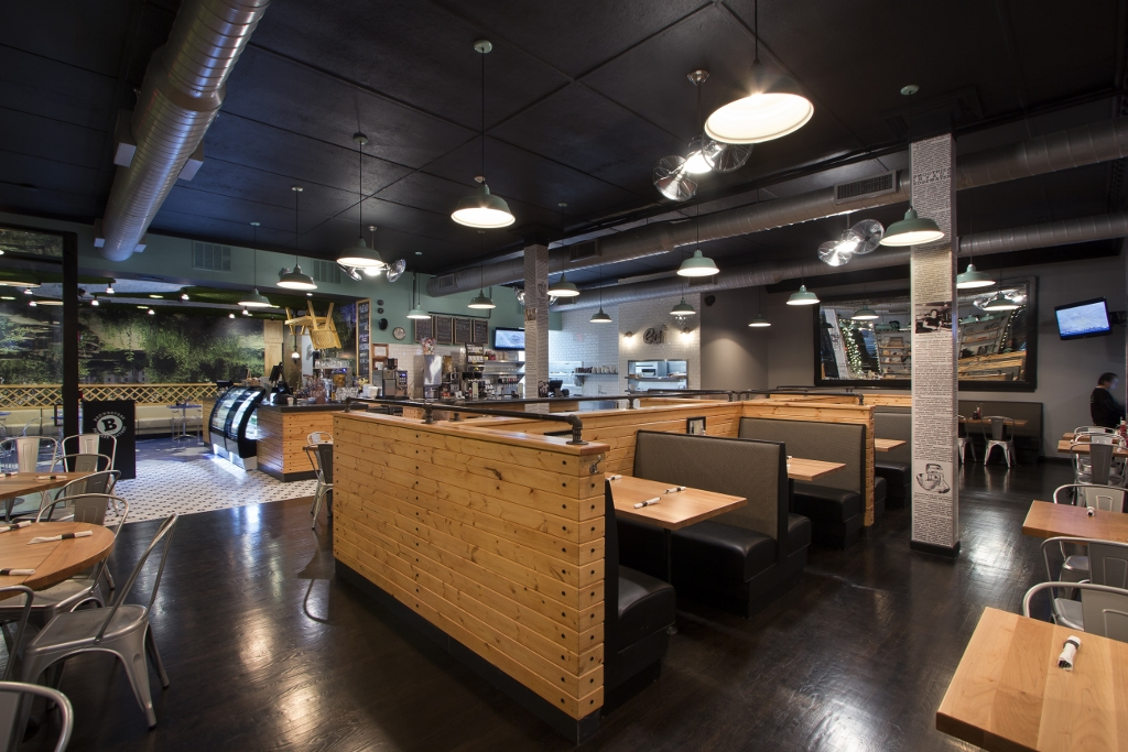Industrial Lighting Lends Chic Atmosphere To Restaurant