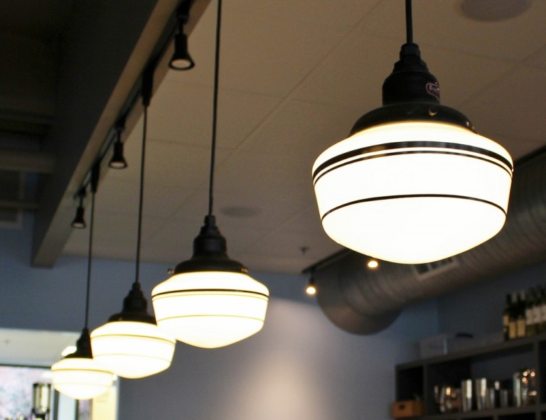 Featured Customer | Schoolhouse Lighting A Sweet Look For Chocolate Lounge