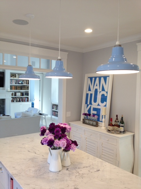 Superieur Featured Customer | Kitchen Lighting Pops With Glossy Blue Porcelain  Pendants