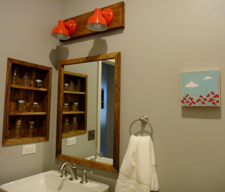 Wall Sconce Lighting Brings Pop of Color to Bathroom Remodel | Blog ...