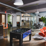 Professional's Corner | Deep Bowl Pendants Add Playful Energy to Office Space