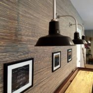 Featured Customer | Classic Barn Lights Lend Urban Chic to Basement Reno