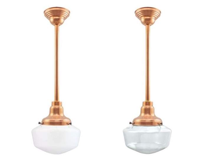 Schoolhouse pendant lighting easy to customize blog both the schoolhouse copper stem mount pendant left above and the clear schoolhouse copper stem mount make a style statement like no other pendant light mozeypictures Images