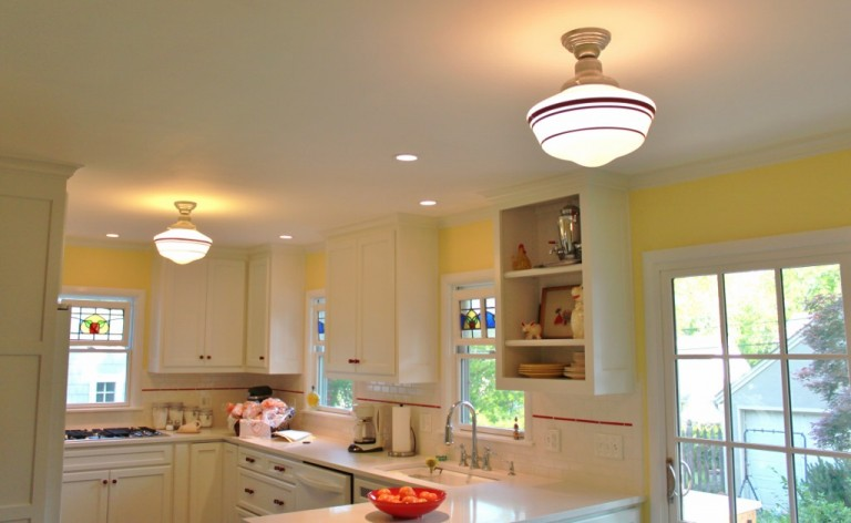 Schoolhouse pendant lighting easy to customize blog for low ceilings or tight spaces a flush mount ceiling pendant like the intermediate schoolhouse light offers all of the schoolhouse charm in a clean and mozeypictures Images