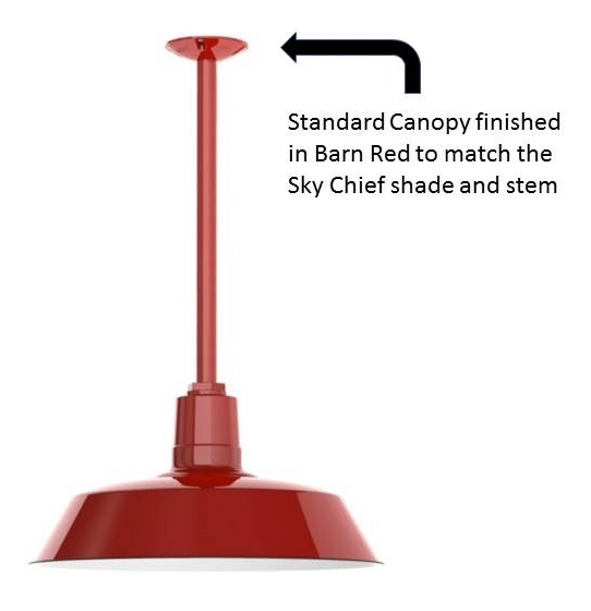 A stem mount pendant can be hung from a standard canopy a hang-straight canopy or a heavy-duty canopy.  sc 1 st  Barn Light Electric Blog & How to Choose the Right Canopy for your Ceiling Pendant | Blog ...