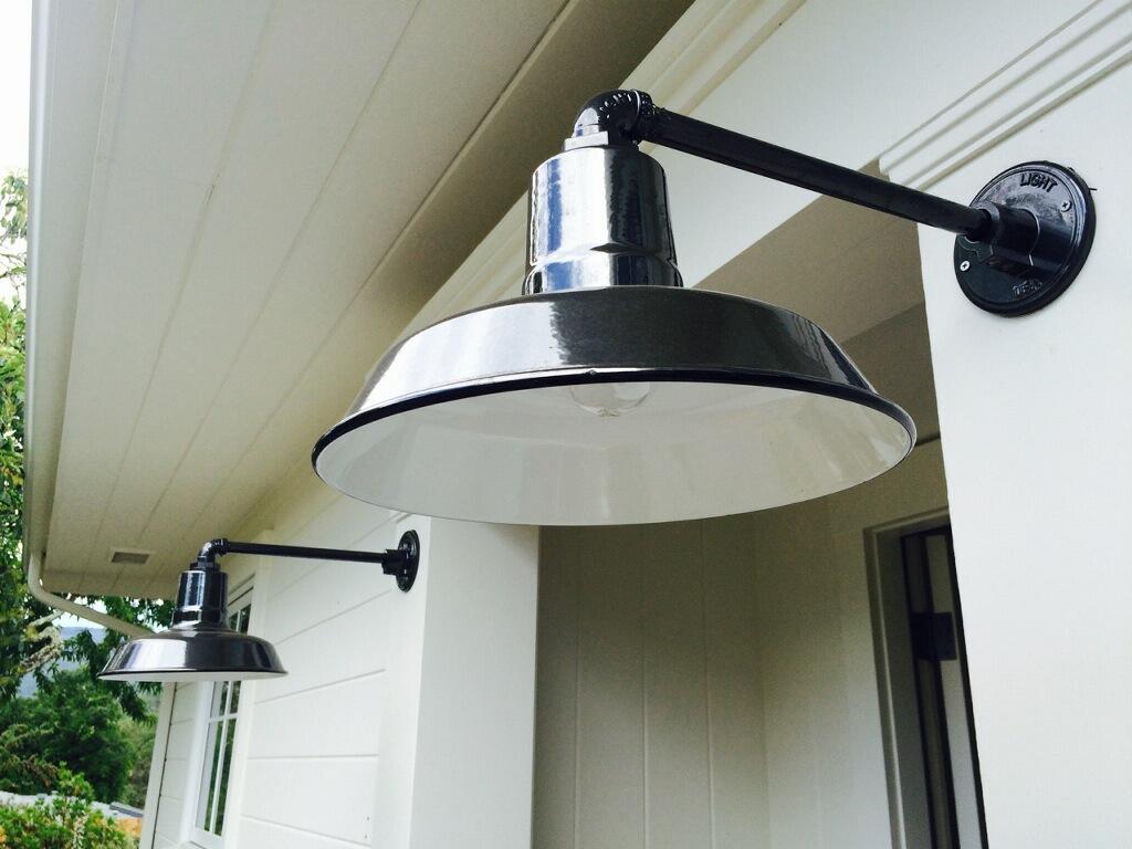 Porcelain Gooseneck Barn Lights Add Rustic Elegance Blog