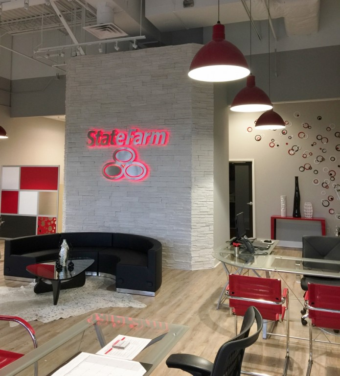 ... On A Gut Remodel Of Their Office In Ridgeland, Mississippi. The Couple  Knew The Company Colors Would Play A Prominent Role In The Design Of The  Space.