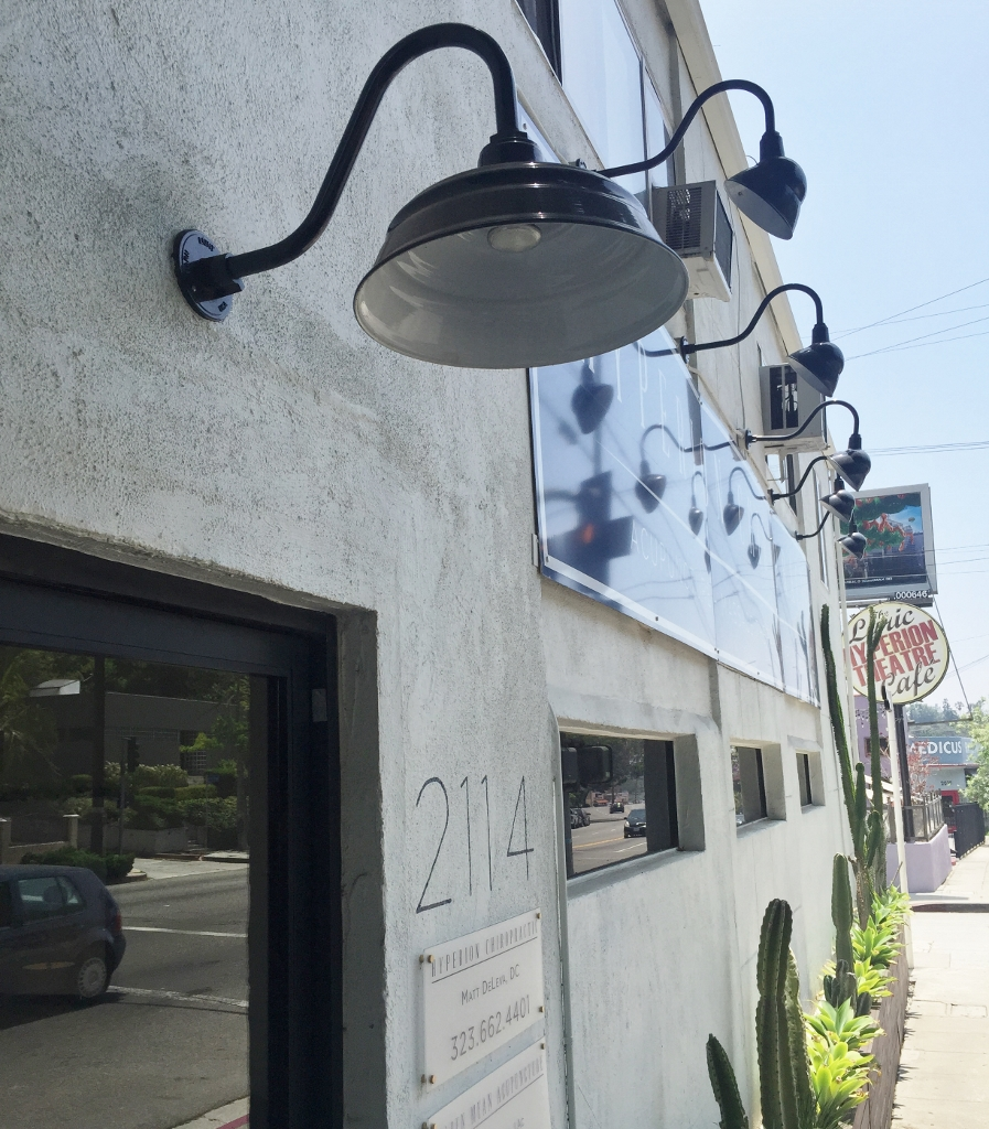 Sign Lights, Warehouse Shades Create Classic Vibe