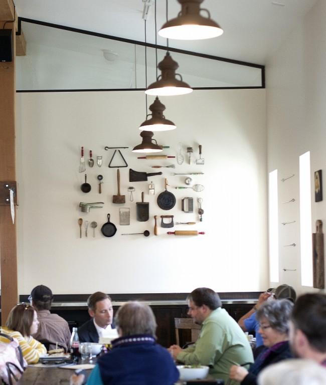 Barn Pendant Lights Add Modern Rustic Feel To Cafe