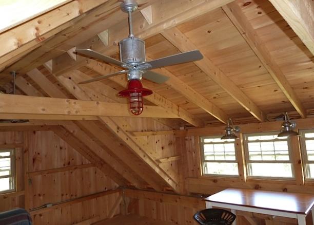 Gooseneck Lights Ceiling Fan Highlight Barn Loft Blog