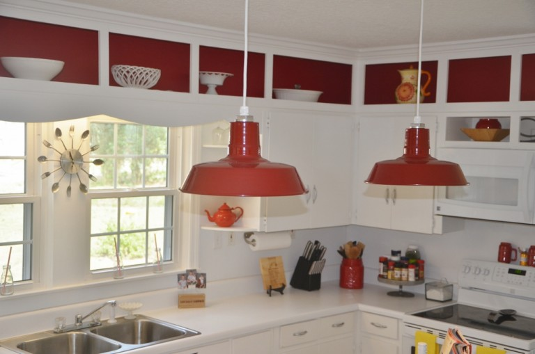 Barn pendant lights define modern country kitchen blog featured customer barn pendant lights define modern country kitchen mozeypictures Gallery