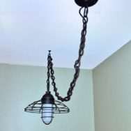 Featured Customer | Let There Be Light! Rustic LED Pendant Brings It to A Dark Stairway