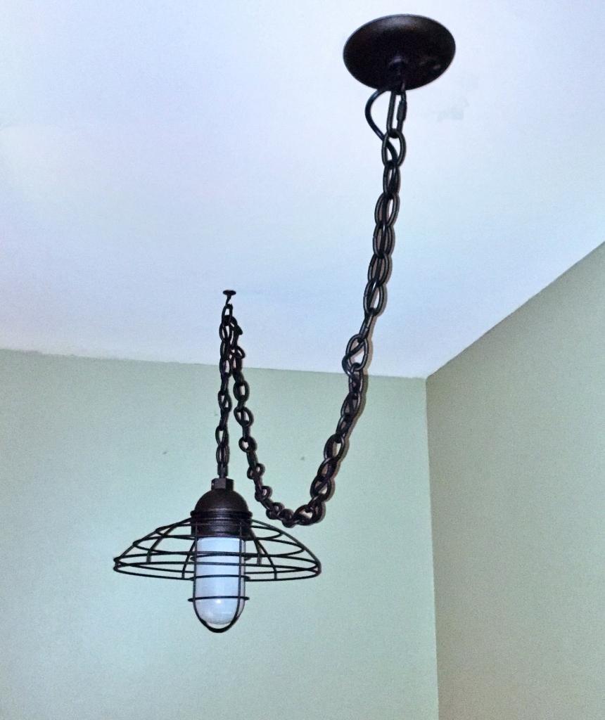 Rustic Led Pendant Brings Light To Dark Stairway Blog Barnlightelectric