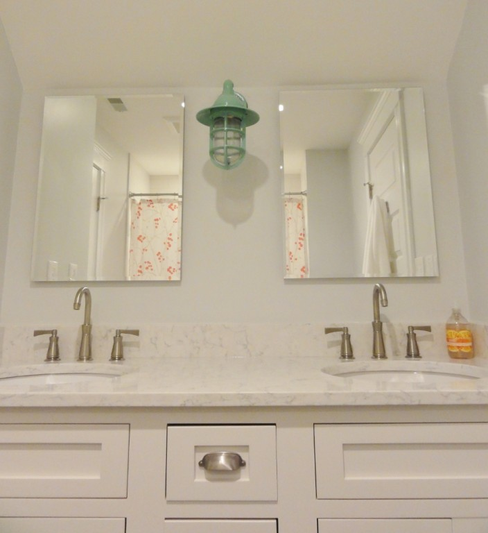 Bathroom Lights Went Out porcelain led lighting brings tired rental into new era | blog
