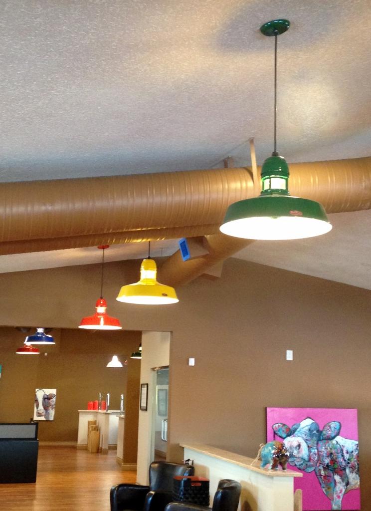 Featured Customer Colorful Led Pendant Lights Create Fun Office Vibe