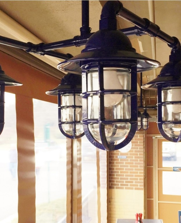 Nautical Chandelier Anchors Fish House in Virginia – Commercial Chandelier