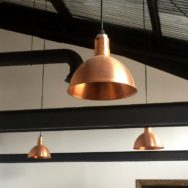 Featured Customer | Copper Pendant Lighting Elevates Industrial Office Space