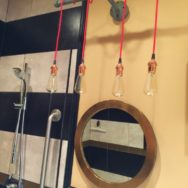 Featured Customer | Steampunk Lighting for Bathroom Gut Remodel