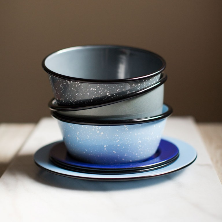 Our Porcelain Enamel Dinnerware Collection Has Been Very Por Since We Started Spinning Cups Bowls And Plates