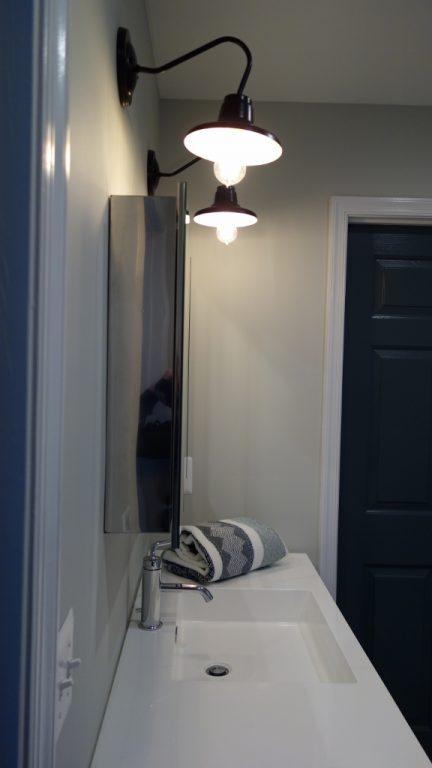 Bathroom Sconces Vintage modern bath softenedvintage look of barn wall sconces | blog