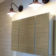 Professional's Corner | Modern Bath Softened by Vintage Look of Barn Wall Sconces