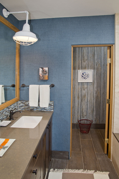 Quirky Bathroom Lighting professional's corner | bathroom lighting adds bold touch to vail